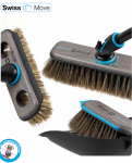 Ebnat Swiss move broom Smokey, scrubber, handle, dustpan and brush set