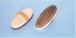 Horse Curry Comb Brass and Bristles large