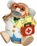 Doctor Smoker, handmade and handpainted wooden smoker from the Erzgebirge, Made in Germany by Seiffener Volkskunst
