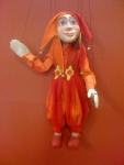 Jester Joker Marionette wood handmade in Prague