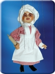 Lady Chef Marionette ahnd made in Prague, wood, hand carved